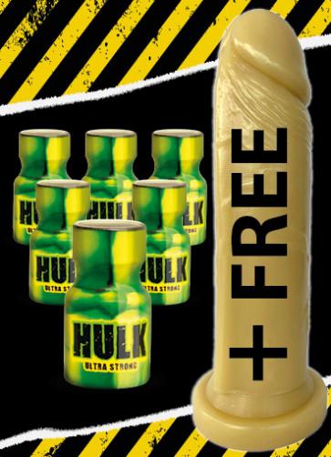 6x Hulk Ultra Strong +DILDO FREE (SI-10108)