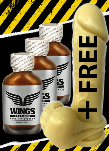 3x Wings Platinum +DILDO FREE (SI-30110)