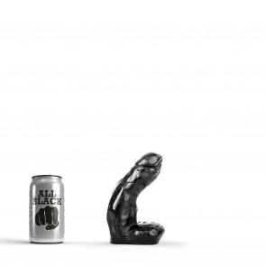 ALL BLACK Dildo Jesse, Vinyl, Black, 11 cm (4,3 in), Ø 4,2 cm (1,6 in)