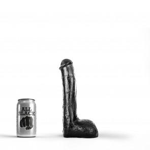 ALL BLACK Dildo Adam, Vinyl, Black, 18 cm (7,1 in), Ø 4,5 cm (1,8 in)