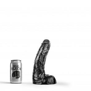 ALL BLACK Dildo Cameron, Vinyl, Black, 25,5 cm (10 in)