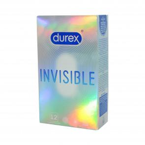 DUREX Invisible, Extra Thin Condoms, Latex, 18 cm (7 in), 12 pcs