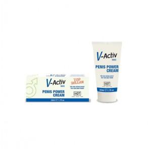 HOT V-ACTIV MAN, Penis Power Cream, 50 ml (1.7 fl.oz)