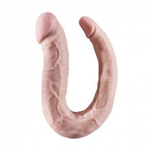 NMC HOODLUM U Shape Double Dong, PVC, Flesh, 40 cm (16 in), Ø 4,6 cm (1,8 in)