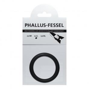 AMARELLE Phallus-Fessel, Latex Cockring, L, black